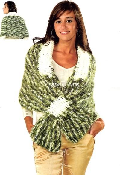 Картинки по запросу вязаная накидка -шарф
