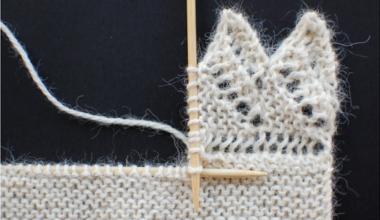 Способ вязания вертикальной каймы спицами