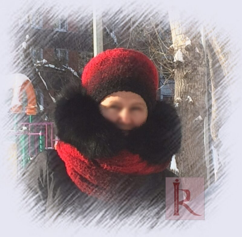 "Зимний комплект ""Черная роза"""