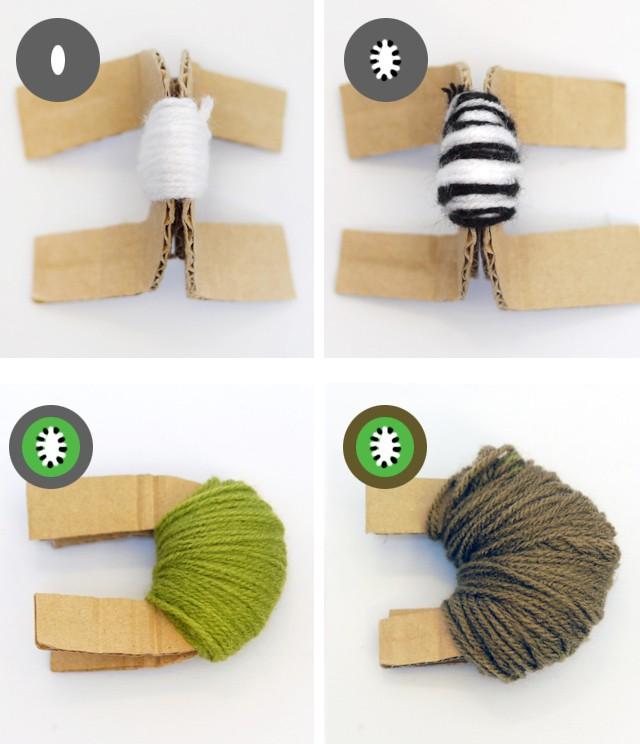 Kiwi Pom pom tutorial