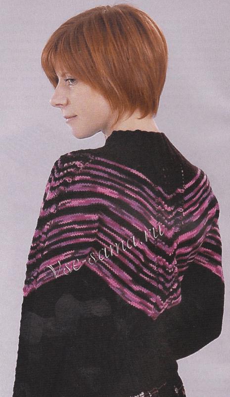 Смещенный реглан: расчет петель и техника вязания