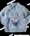 Детский свитер-реглан «Очень серьезная Сова» с карманом-кенгуру