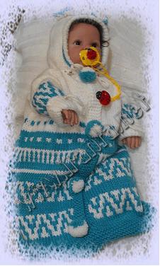 """Конверт для новорожденного на выписку """"Зимний жаккард"""""""