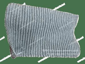 """Комплект """"Холодное море"""": две шапочки с подкладкой и шарф-снуд"""