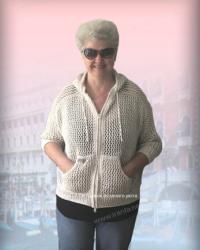 Укороченная летняя курточка/толстовка «Танец ветра»