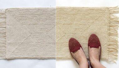 Оригинальный способ вязания коврика крючком. МК