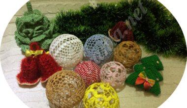 Вязаные новогодние елочные шары