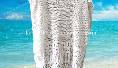 """Ажурная блуза-трансформер """"Sunshine"""" с цветочной каймой"""