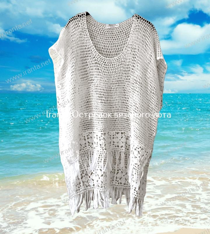"""Ажурная блуза-трансформер """"Sunshine"""" с цветочной каймой и бахромой"""