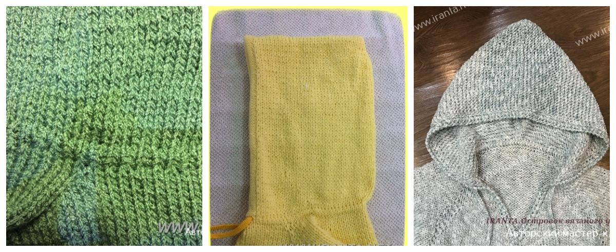 Страховка от растягивания некоторых частей вязаного изделия: 5 вариантов с одним эффектом