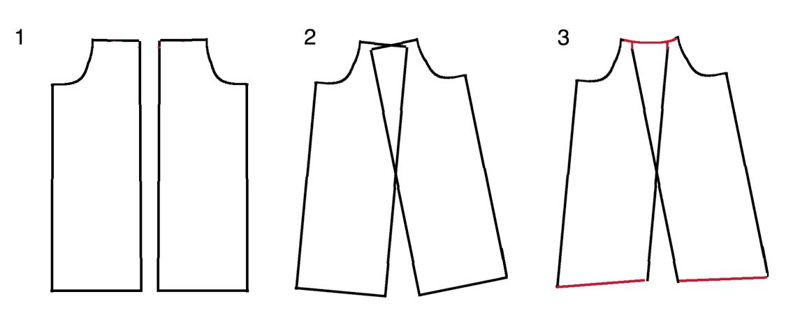 Как связать спинку с запАхом?
