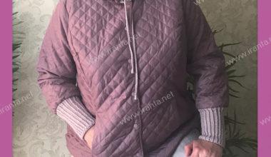 """Легкая куртка """"Комби"""" с вязаными деталями"""